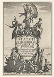 Title page for the book 'Statuti dell'ordine de' Cavalieri di Santo Stefano '