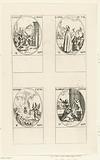 Christ carrying the Cross (Exaltation), Saint Aprus of Toul, Saint Euphemia of Chalcedon, Saint Lambert of Maastricht