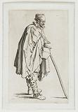Beggar with a jug and a stick