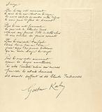 Illustration with half-naked woman in landscape with poem Image by Gustave Kahn