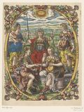 Personificaties van Justitia, Caritas, Prudentia, Pax en Republica