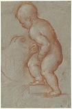 Putto with a coat of arms