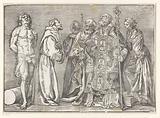 Six standing saints