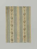 Fragment multicoloured, striped silk pekin