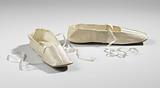 Pair of shoes with ribbon laces