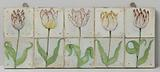 Tile Panel with Tulips