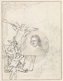 Portrait of Johannes Bronkhorst surrounded by putti