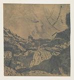 Rocky Landscape with a Gorge, First Version