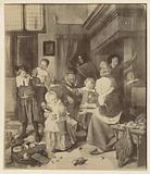 Painting The Saint Nicholas Feast by Jan Steen