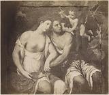 Painting Venus and Adonis by Paris Bordone