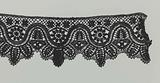 Strip bobbin lace with deep wave line