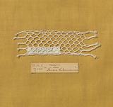 Steel bobbin lace with coarse thread as an example of a bastard-Valenciennes soil (lattice soil)