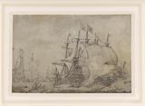 Naval battle at Terheide, 1653
