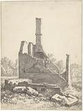 Ruins of a house in Abstede near Utrecht