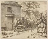 Plundering Soldiers near a Cottage