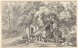 Shepherd's hut between trees