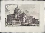 St Peter's Basilica from Piazza della Sagrestia
