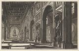 Interior of the Saint John Lateran in Rome