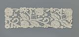 Decorative piece for an evening mantle of mixed lace with rose hedge