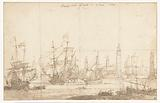 Sailing out of Havana's Spanish fleet in 1662