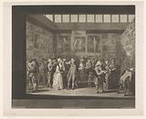 Painting exhibition at the Royal Academy, 1771