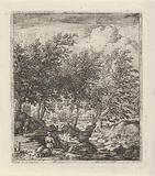 Landscape with pig herder