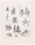 Eleven representations of human pastime