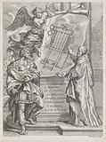 Pope Silvester I shows Emperor Constantine's design for St Peter's Basilica