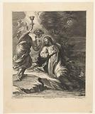 Christ and angel with chalice on Mount of Olives (Gethsemane)