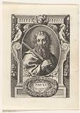 Apostle Paul with sword in frame with architectural ornaments