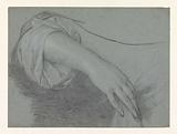 Study of a hand with forearm protruding from a sleeve