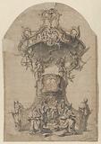 Design for the pulpit in the St Laurentiuskerk in Lokeren