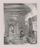 Dutch interior with figures and food
