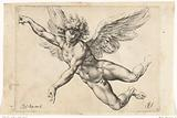 Study for a naked flying angel