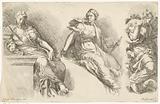 Three seated women
