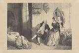 Man and woman in eighteenth century interior