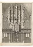 Interior of Grote Kerk with Garrel's organ in Maassluis