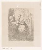 Young woman at a shoemaker