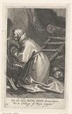 Saint Bavo of Ghent as a hermit