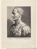 Classic marble bust of Emperor Julius Caesar