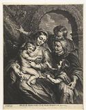 Holy family with goldfinch and Anna and Johannes