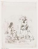 Aeddon speaks to a shepherdess