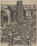 The erection of the obelisk on St Peter's Square