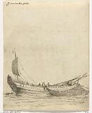 Fishing boat with hanging net