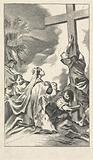 The queen of Seba worships the cross