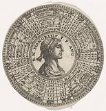 Medal with the portrait of Emperor Honorius and the names of Roman emperors