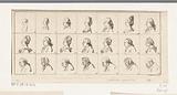 Twenty-one busts of men and women