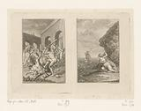 Two scenes from the life of Theseus