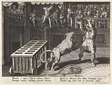 Emperor Commodus kills a leopard with an arrow