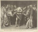 Infidel Thomas touches Christ's wound